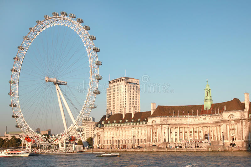 Download London Eye panoramic editorial photography. Image of high - 21384102