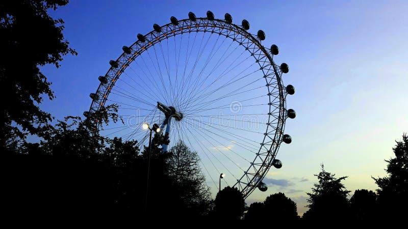 London Eye 2019 fotografering för bildbyråer