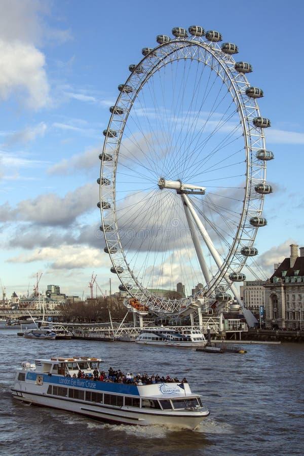 London Eye - River Thames - England royalty free stock image