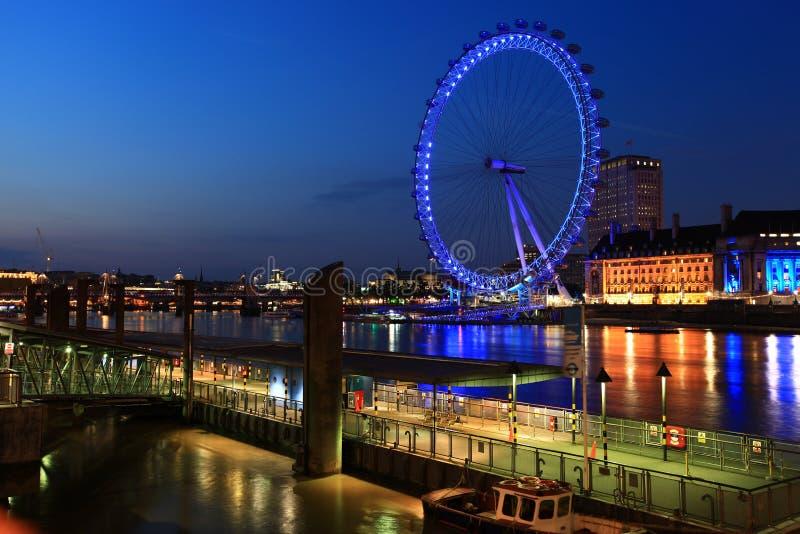 London eye,River Thames at night
