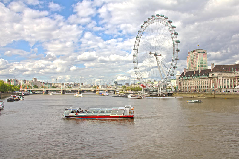 Download The London Eye And The Thames River Editorial Photography - Image of building, europe: 24299402