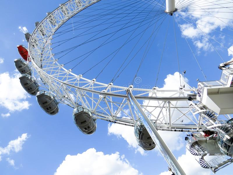 The London Eye on the Thames River in London royalty free stock photo