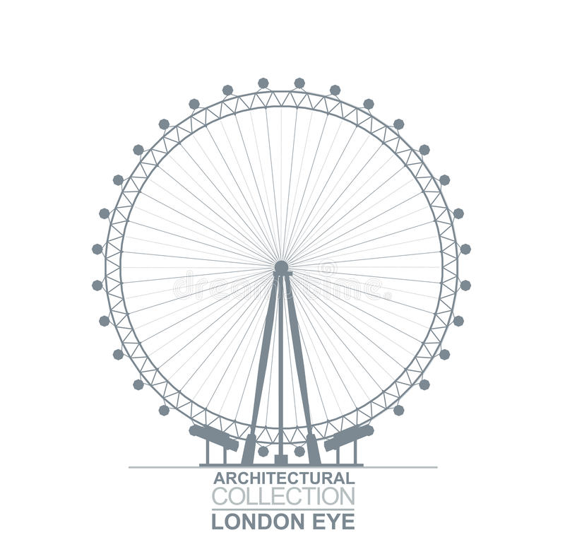 Download London Eye View Editorial Image Illustration Of Millennium