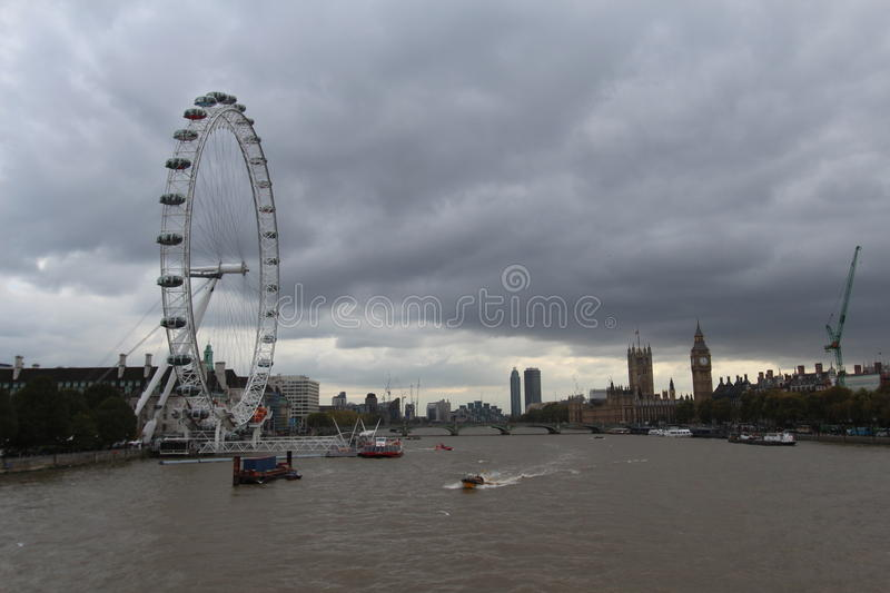 London eyes from the bridge stock images
