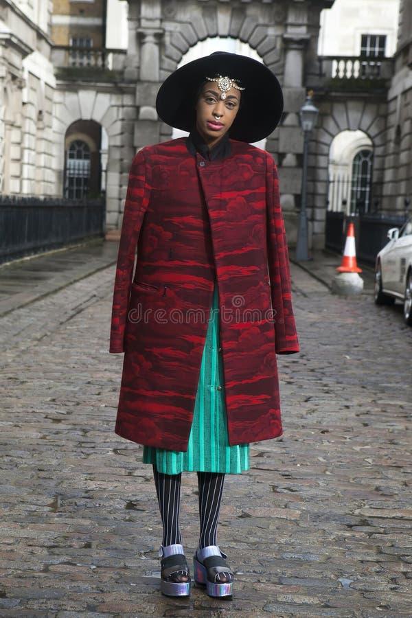 London Fashion week on February 18 stock images