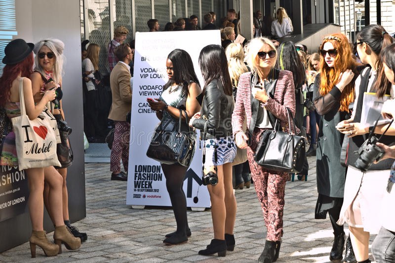 London Fashion Week At Somerset House Editorial Photography Image 26688332