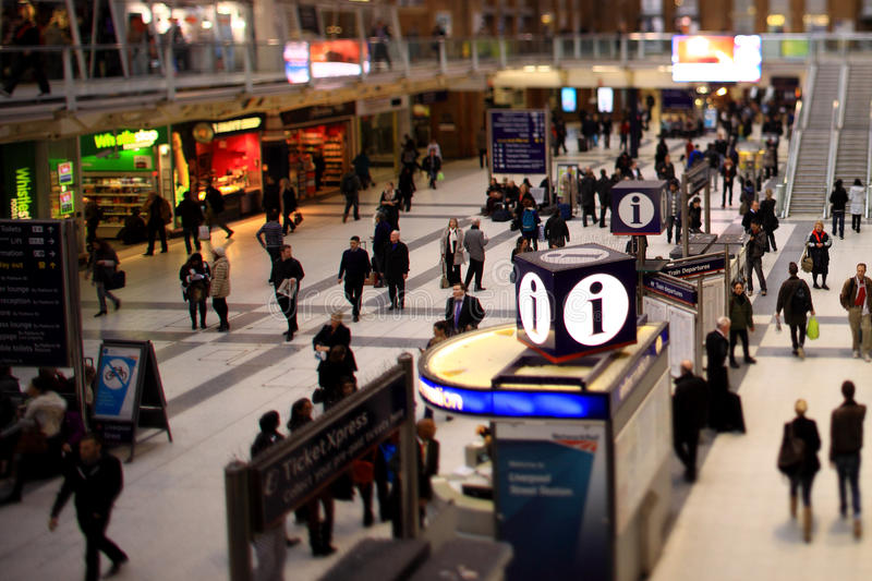Liverpool Street Station, London. A busy Liverpool Street station, London royalty free stock images