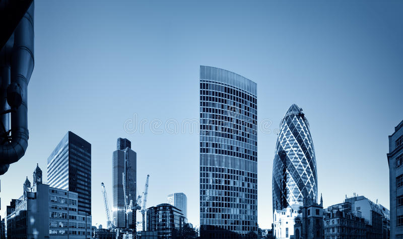 London financial discrict. stock photo