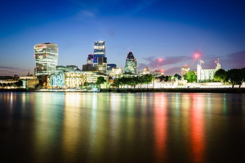 London financial district stock photos