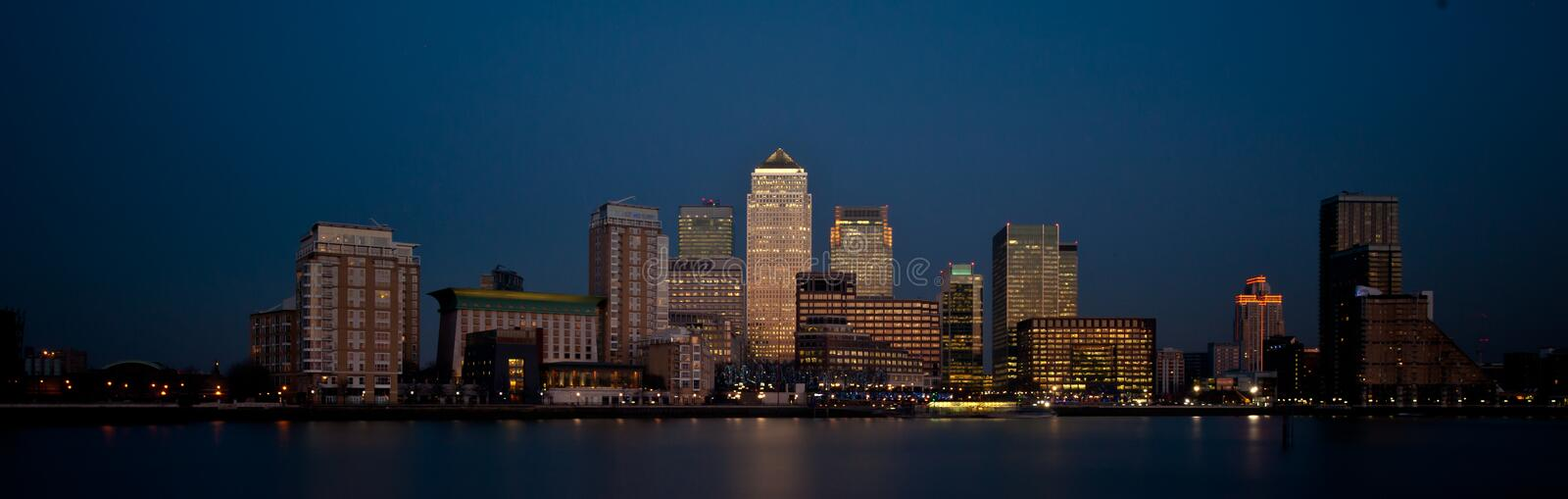 Download London Financial District Panoramic Skyline 2013 At Dusk Stock Image - Image: 29341211
