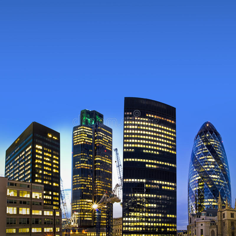 Download London Financial District At Twilight Stock Photo - Image: 15651092