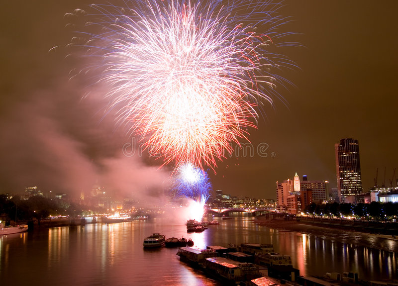 London Fireworks. Fireworks at the Thames Festival in London