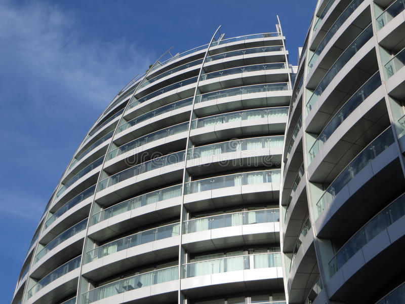 Download London Flats stock image. Image of building, clouds, flat - 31995699