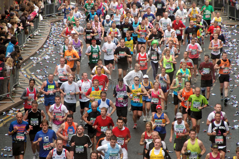 Download London Flora Marathon editorial image. Image of goal, lifestyle - 4885495