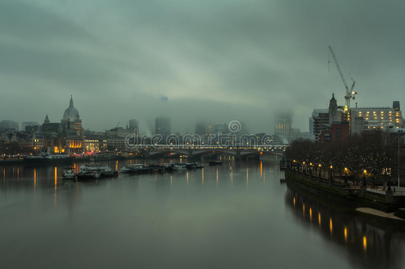 Foggy morning in London royalty free stock image
