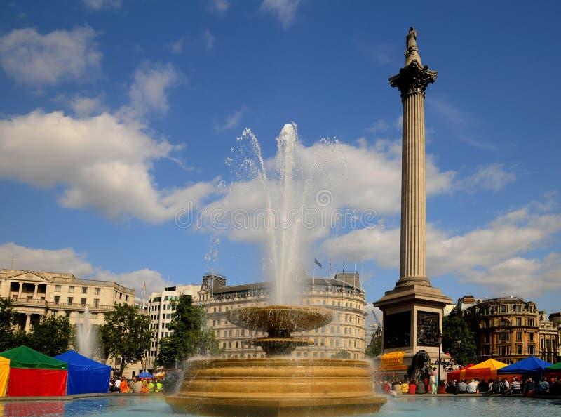 london fyrkantigt trafalgar royaltyfria bilder