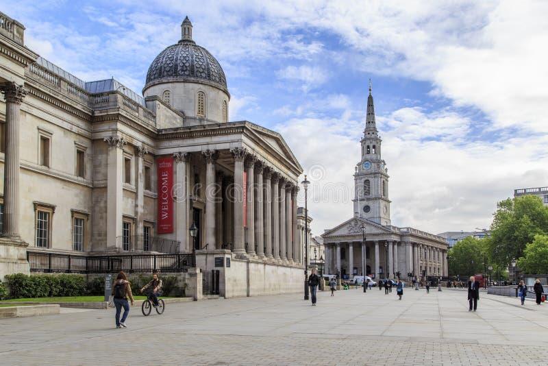 london fyrkantigt trafalgar fotografering för bildbyråer