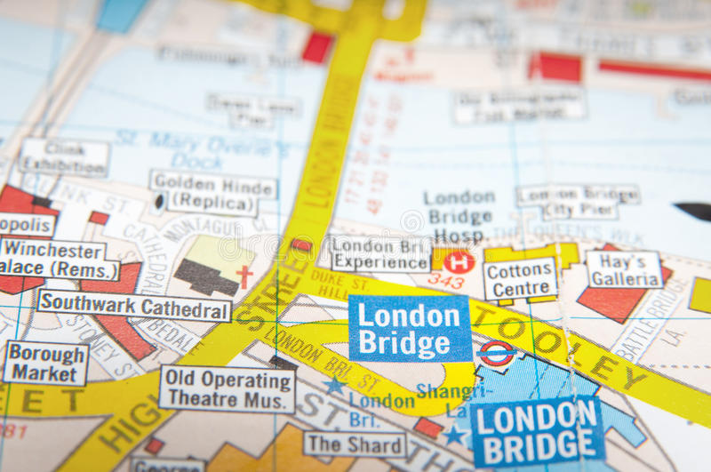 London gataöversikt royaltyfri bild