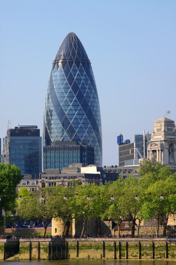 London gherkin. A photography of the huge london gherkin stock photo