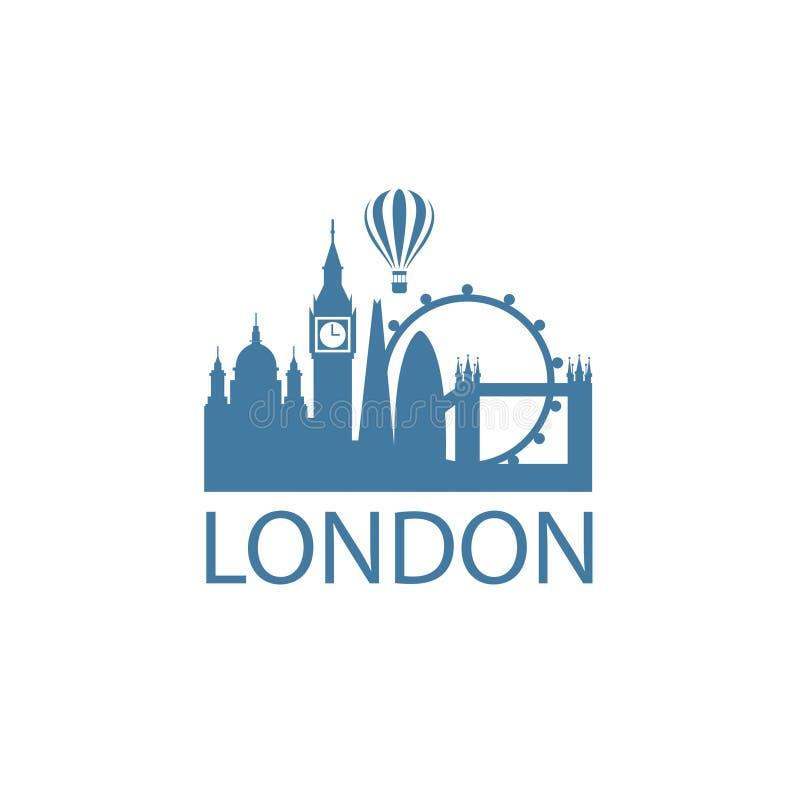 London gränsmärkebild vektor illustrationer