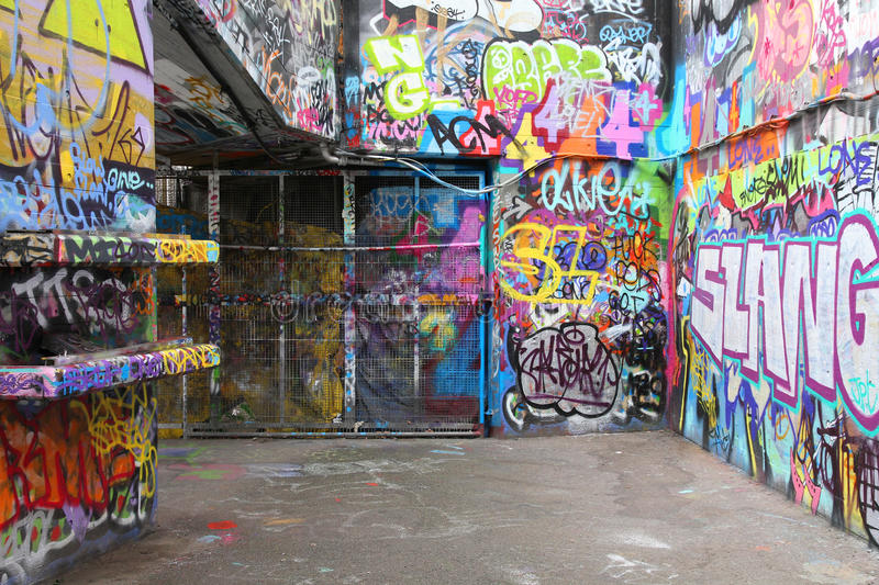 Download London graffiti editorial stock photo. Image of spray - 25538703
