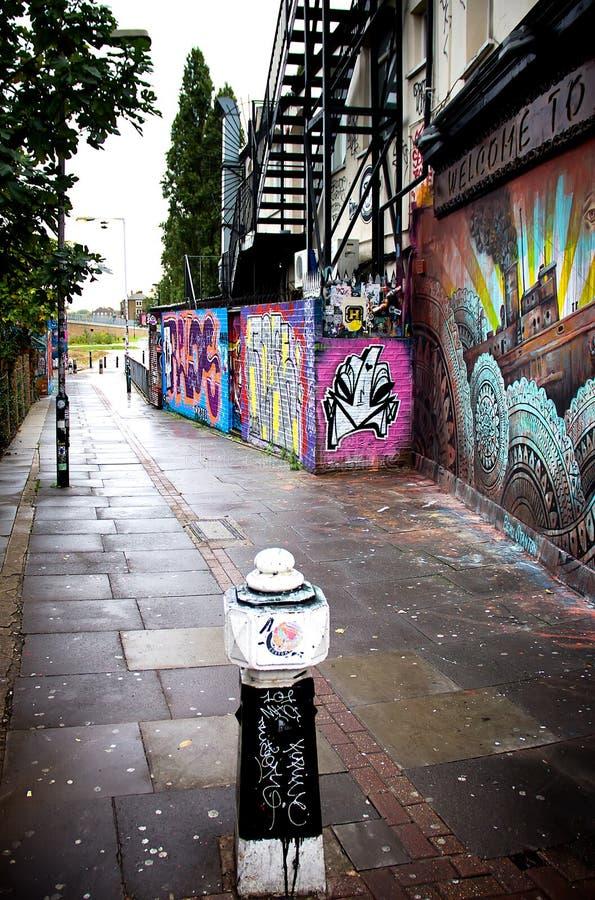 London-Graffitistadtbild lizenzfreie stockbilder