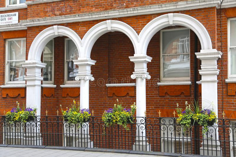London, Great Britain -May 22, 2016: a building of typical English traditional architecture stock images