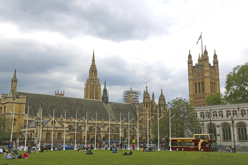London, Great Britain -May 22, 2016: Parliament Square Garden stock image