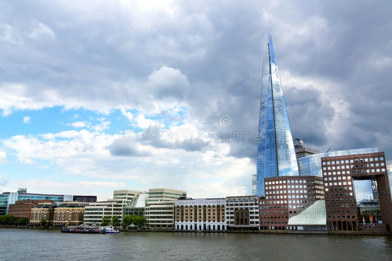 London, Great Britain -May 23, 2016: The Shard London Bridge, the tallest building in the European Union stock images
