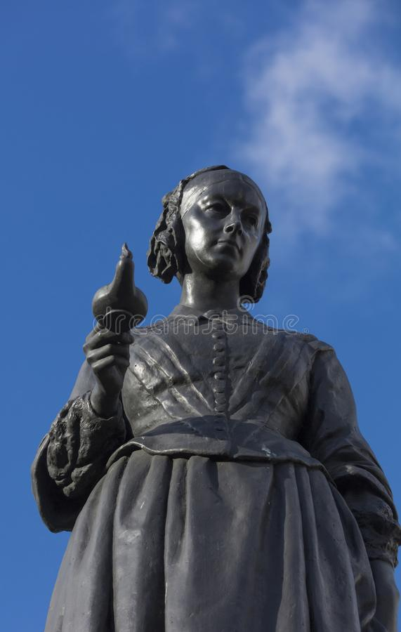 Free London, Greater London, UK, February 7th 2019, Statue To Florence Nightingale Royalty Free Stock Images - 139407509