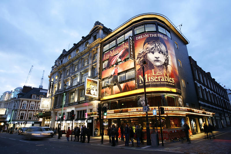 London-Theater, das Theater der Königin lizenzfreie stockfotografie