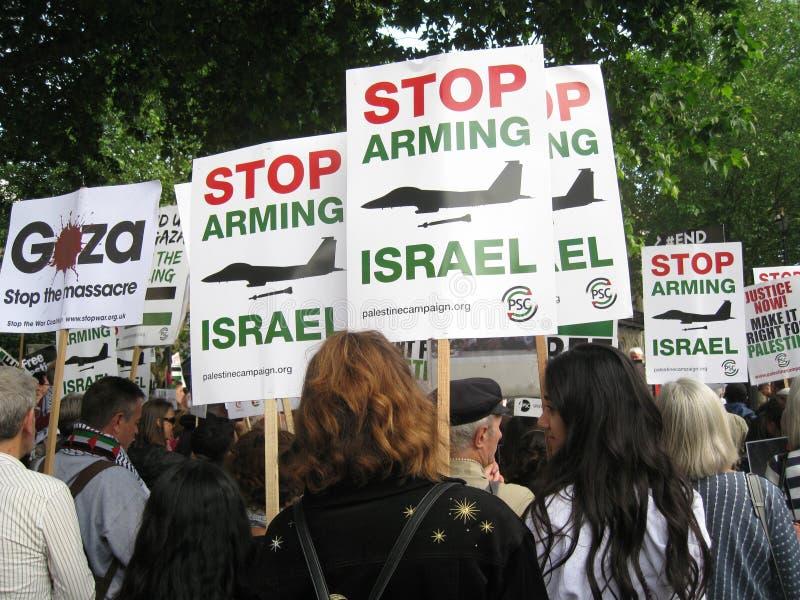 """London Großbritannien - 5. Juni 2018: Leute an freiem Palästina-†""""stoppen stockbilder"""
