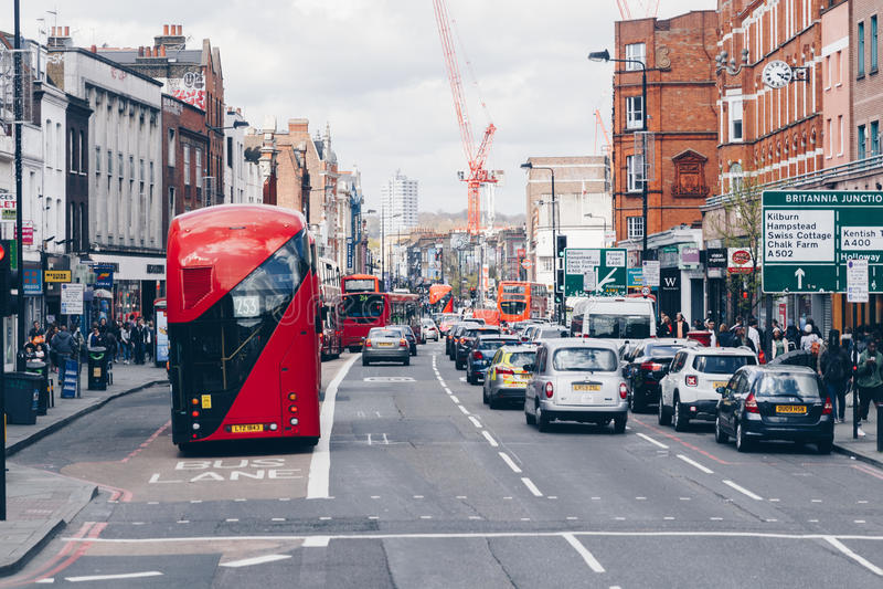London, Großbritannien - 2. vom April 2017: Camden Lock Village, berühmtes Alt stockfoto