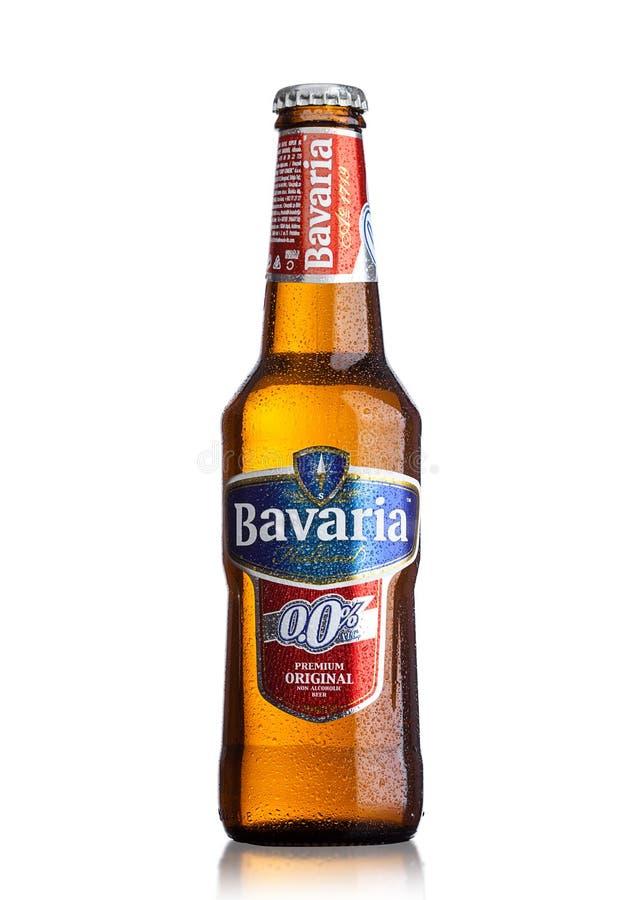 LONDON, GROSSBRITANNIEN - 29. MAI 2017: Flasche alkoholisches Bier Bayern-Hollands nicht auf Weiß Bayern ist die zweitgrösste Bra stockfotografie