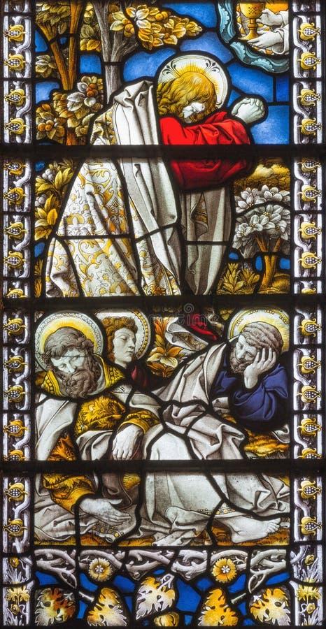 LONDON, GROSSBRITANNIEN - 17. SEPTEMBER 2017: Das Jesus-Gebet in Gethsemane-Garten in Kirche St. James Spanish Place lizenzfreies stockbild