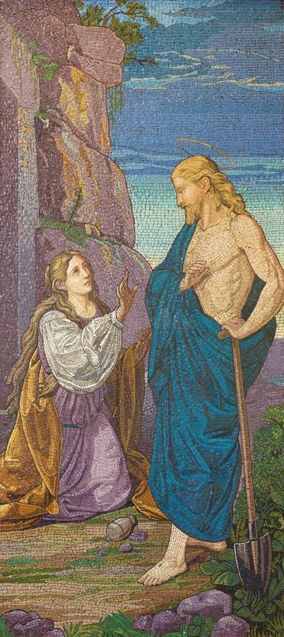 LONDON, GROSSBRITANNIEN - 13. SEPTEMBER 2017: Der Christus-` s Auftritt zu Mary Magdalene in Kirche Brompton-Rhetorik stockfoto