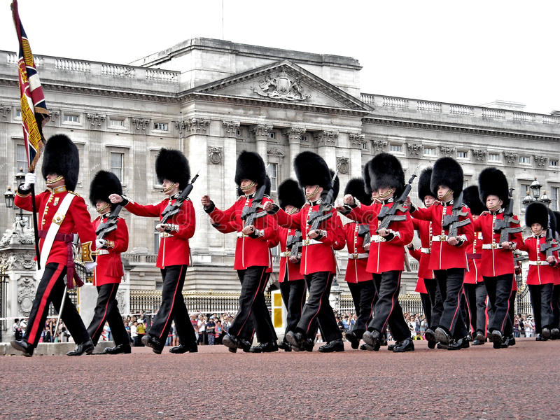 London The Guard at Buckingham Palace royalty free stock image