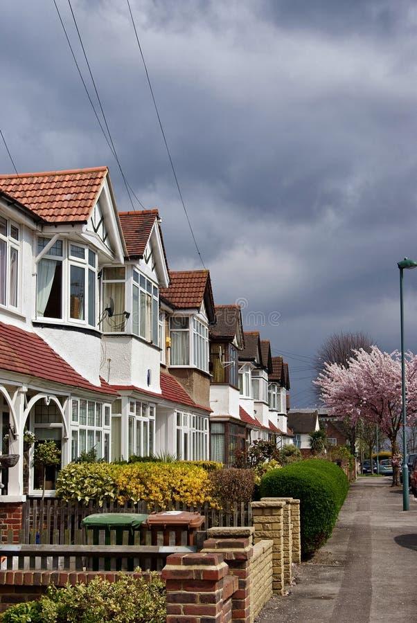 London-Häuser stockbilder