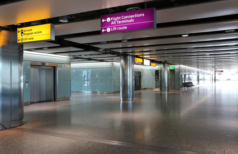 London Heathrow. London Heathrow Airport Interior Signs stock images