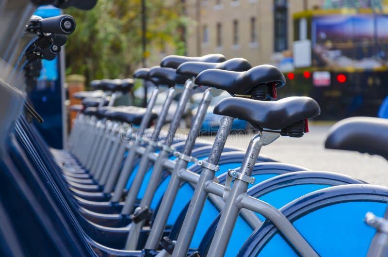 London Hire Bikes royalty free stock photography