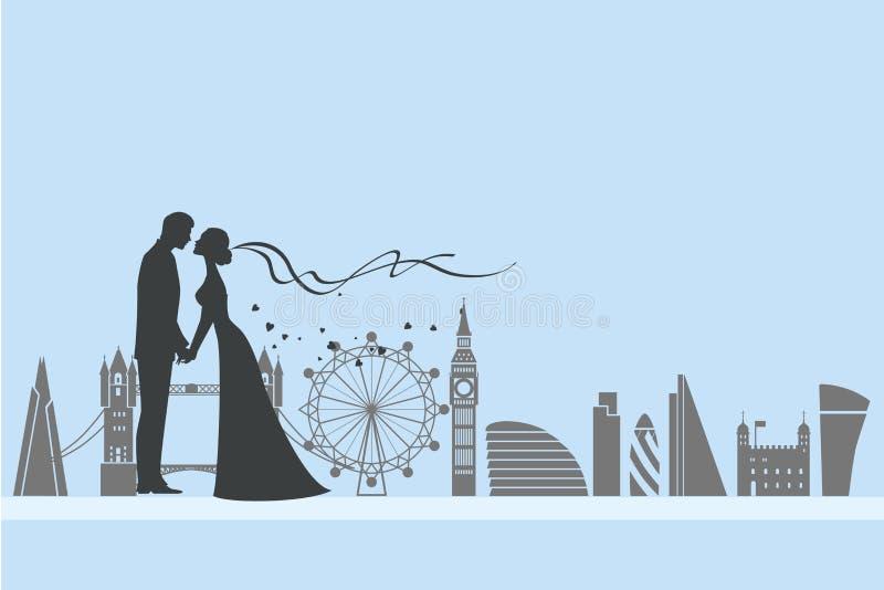 London-Hochzeit und -liebe stock abbildung