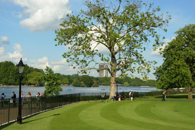 London Hyde Park stock photos