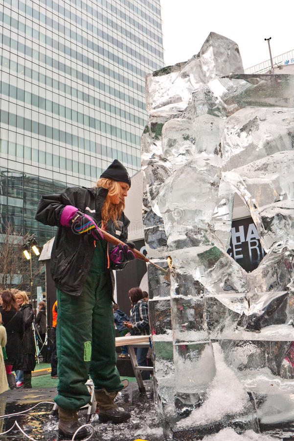Download London Ice Sculpture Festival. Editorial Image - Image: 17843710
