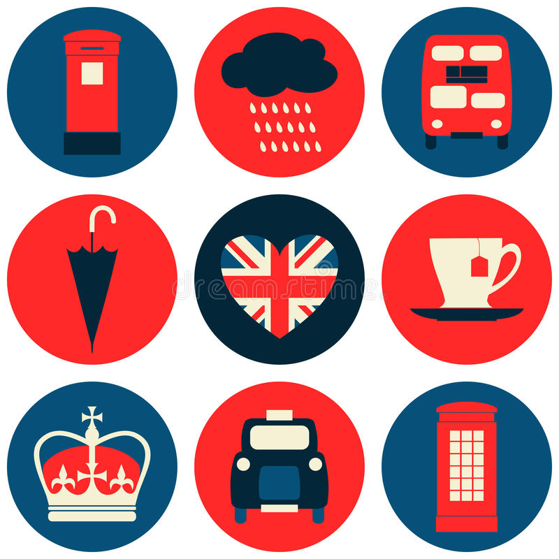 Free London Icons Collection Royalty Free Stock Photography - 34210397