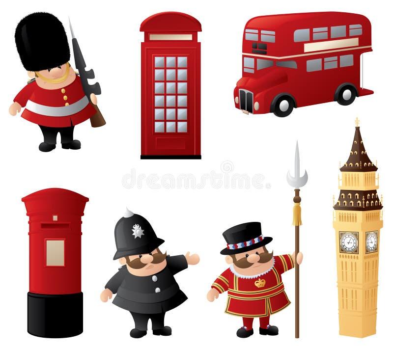 London Icons. Iconic symbols of British London royalty free illustration