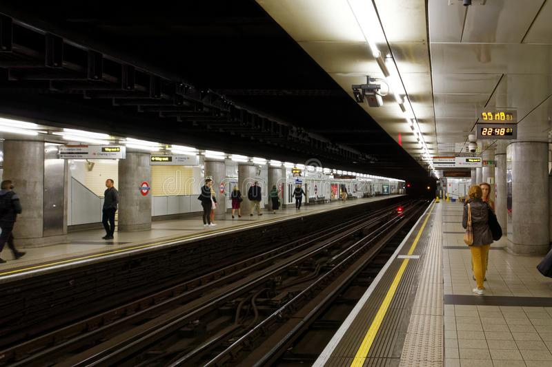 Waiting in the Underground royalty free stock images