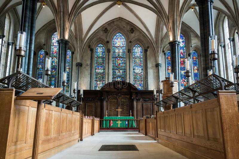 London - July 7th 2014: Interior of Temple Church with no people stock photos