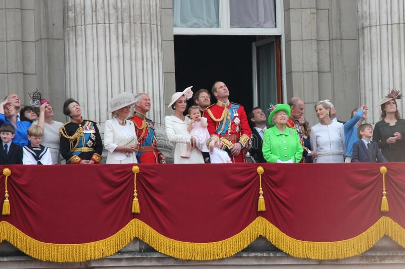 London June 2016- Trooping the color Queen Elizabeth's 90th Birthday stock image