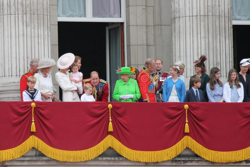 London June 2016 Trooping The Color Queen Elizabeths 90th Birthday