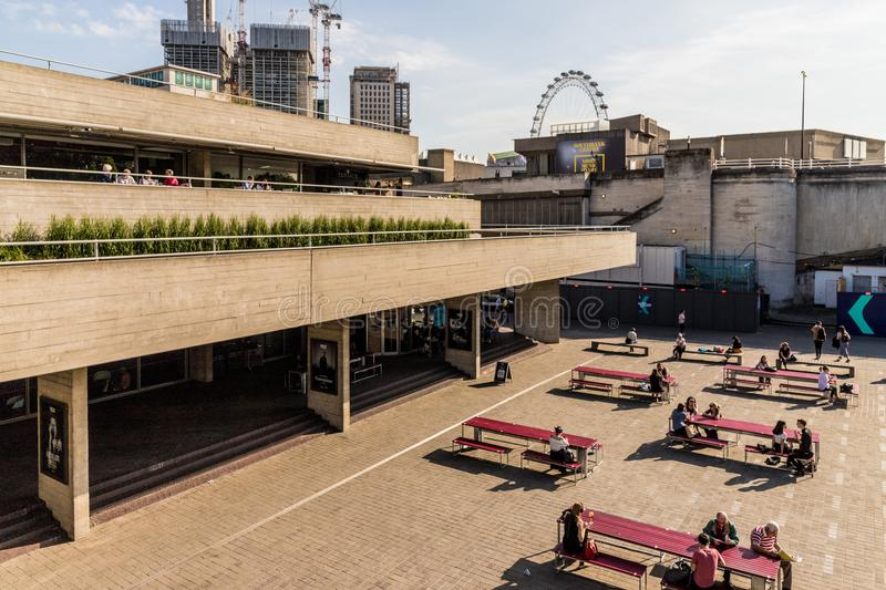 South bank in London stock photography